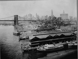 Piers by Brooklyn Bridge, New York Photographic Print