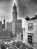 Woolworth Building and Relief Sculpture on Building Side Photographic Print by W.J. Roege
