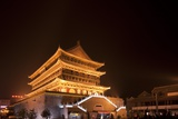 Drum Tower at Night Photographic Print by Paul Souders