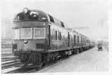 Diesel Electric Rail Car at North Station Photographic Print