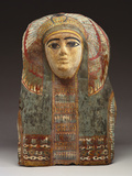 An Egyptian Cartonnage Mummy Mask Photographic Print