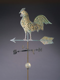 Fine Feathered Rooster and Arrow Weathervane Photographic Print