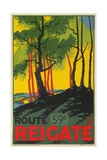 Travel Poster for Reigate, Surrey, England Giclee Print
