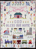 A Pieced and Appliqued Pictorial Cotton Quilted Coverlet Depicting Clifton, Ohio Photographic Print