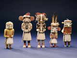 Five Hopi Cottonwood Kachina Dolls Photographic Print