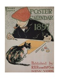 The Artist and His Cat Giclee Print by Edward Penfield