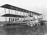 Passengers Standing on Middle Wing of Triplane Photographic Print