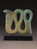 An Egyptian Pale-Blue Faience Plaque of a Cobra, Dynasty XXVI-XXX, 664-30 B.C. Photographic Print