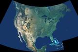 Topographic Composite of North American Continent Reprodukcja zdjęcia