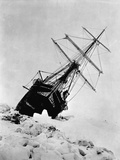 Ernest Shackleton's Expedition Ship Endurance Trapped in Ice Fotografisk tryk