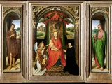 Small Triptych of St. John the Baptist Photographic Print by Hans Memling