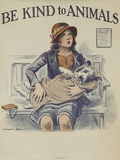 1939 Be Kind to Animals, American Civics Poster, Veterinary Office Giclee Print