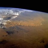 Dust Storm over the Sahara Fotografisk tryk