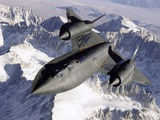 Nasa Sr-71 Research Aircraft in Flight Photographic Print