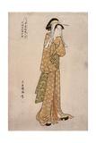 The Streetwalker Okane of Dotombori in Osaka Giclee Print by Chokyosai Eiri