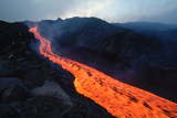 Lava Flow from Mount Etna Photographic Print by Vittoriano Rastelli