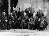 Portrait of the 1890 Supreme Court Photographic Print by Napoleon Sarony