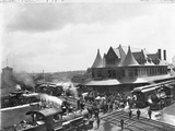 Busy Train Station in Michigan Photographic Print