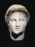 A Greek Marble Female Head Photographic Print