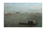 Gondolas on the Lagoon (Grey Lagoon) Giclee Print by Francesco Guardi