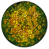 Tiffany Studios Lighted Shade of a Fine Alamander Leaded Glass and Bronze Vhandelier Lámina fotográfica