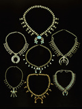 A Selection of Navajo Silver and Turquoise Necklaces Photographic Print