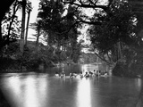 Civil War Soldiers Bathing in a River Photographic Print by Timothy O' Sullivan