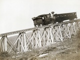 Train Ascending Mount Washington Photographic Print