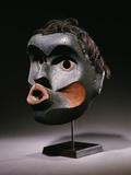 A Kwakwaka'wakw Dzoonokwa Wood Face Mask Photographic Print