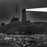 Peggys Cove Lighthouse at Night Photographic Print