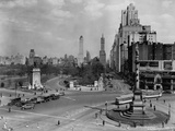 Columbus Circle with Monument and View East, New York Photographic Print