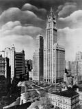 Woolworth Building and City Hall Park, Manhattan Photographic Print