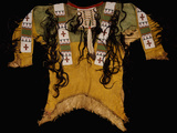 Sioux Beaded and Fringed Hide Warrior's Shirt Photographic Print