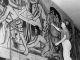 Works Progress Administration Artist Paints a Mural Photographic Print