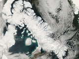 Low Earth Orbit View of Baffin Island Photographic Print