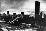 Remains of Buildings after the San Francisco Earthquake, 1906 Photographic Print by Arnold Genthe