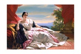 Portrait of Leonilla, Princess of Sayn-Wittgenstein-Sayn Giclee Print by Franz Xaver Winterhalter
