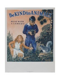 1939 Be Kind to Animals, American Civics Poster, Hunt with a Camera Giclée-tryk