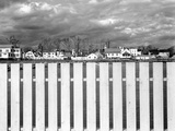 Fence, Clouds, and a Connecticut Town Photographic Print by Jack Delano