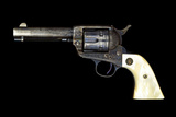 A Factory Engraved Colt .44-40 'Frontier Six Shooter' Revolver with Mother of Pearl Grip Photographic Print