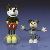 A Mickey Mouse Figural Perfume Bottle and a Mickey Mouse Lead Figure, Both Circa 1930S Photographic Print