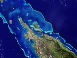 Ile Balabio and Part of Grande Terre in New Caledonia Photographic Print