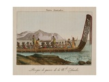 War Canoe of New Zealand Giclee Print