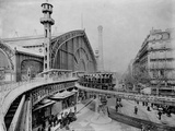 Elevated Train in Paris Photographic Print