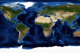Blue Marble: Next Generation Map of the Continents Photographic Print