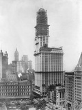 Construction of the Woolworth Building, New York Photographic Print