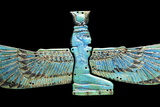 An Egyptian Turquoise Glazed Composition Pectorial in the Form of a Winged Isis Photographic Print