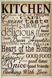 Kitchen and Words Off White Wall Plaque Wood Sign