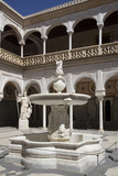 Spain, Andalusia, Sevilla, House of Pilate, Cloister, Fountain Photographic Print by Samuel Magal