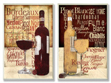 Red and White Wine Typography Kitchen Wall Plaque Duo Wood Sign